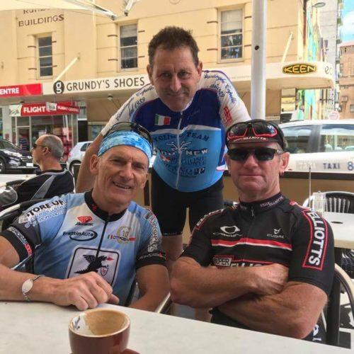 dall'Australia sulla sinistra Sebastian, al centro John a destra Alan